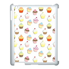 Cupcakes pattern Apple iPad 3/4 Case (White)
