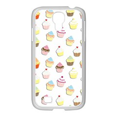 Cupcakes pattern Samsung GALAXY S4 I9500/ I9505 Case (White)