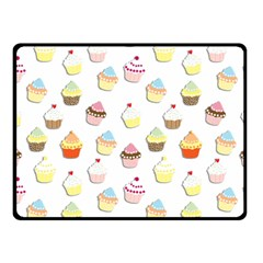 Cupcakes pattern Double Sided Fleece Blanket (Small)