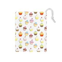 Cupcakes pattern Drawstring Pouches (Medium)