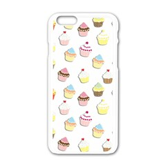 Cupcakes pattern Apple iPhone 6/6S White Enamel Case