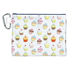 Cupcakes pattern Canvas Cosmetic Bag (XXL)