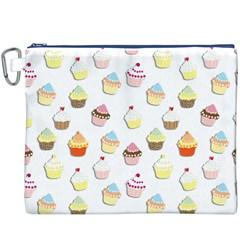 Cupcakes pattern Canvas Cosmetic Bag (XXXL)