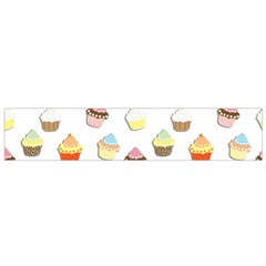 Cupcakes pattern Flano Scarf (Small)