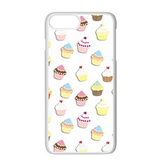 Cupcakes pattern Apple iPhone 7 Plus White Seamless Case