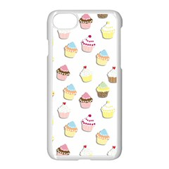 Cupcakes pattern Apple iPhone 7 Seamless Case (White)