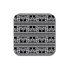 Traditional Draperie Rubber Square Coaster (4 Pack)