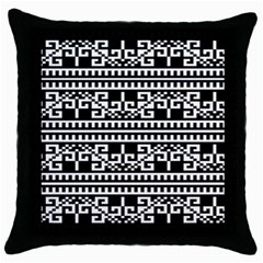 Traditional Draperie Throw Pillow Case (Black)