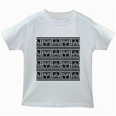 Traditional Draperie Kids White T-Shirts