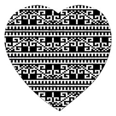 Traditional Draperie Jigsaw Puzzle (Heart)