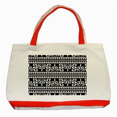 Traditional Draperie Classic Tote Bag (red)