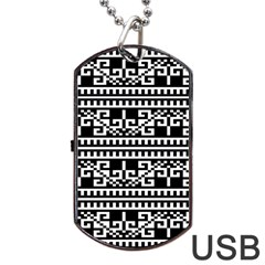 Traditional Draperie Dog Tag USB Flash (Two Sides)