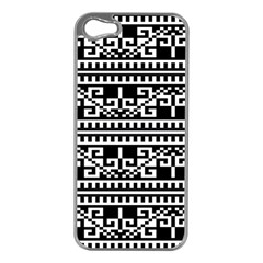 Traditional Draperie Apple iPhone 5 Case (Silver)