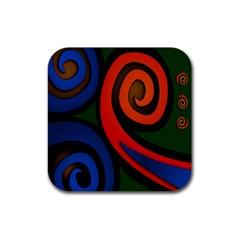Simple Batik Patterns Rubber Coaster (square)