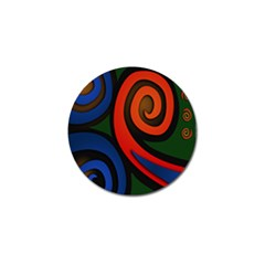 Simple Batik Patterns Golf Ball Marker (10 pack)