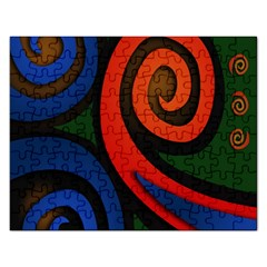 Simple Batik Patterns Rectangular Jigsaw Puzzl