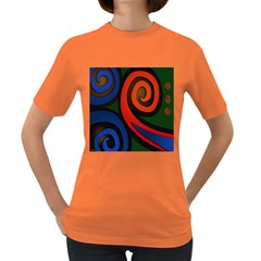 Simple Batik Patterns Women s Dark T-Shirt