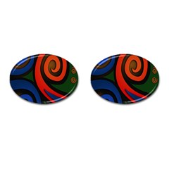 Simple Batik Patterns Cufflinks (Oval)