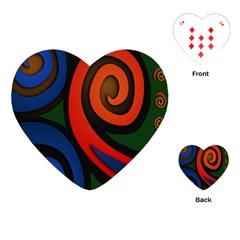 Simple Batik Patterns Playing Cards (heart)