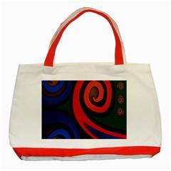 Simple Batik Patterns Classic Tote Bag (Red)