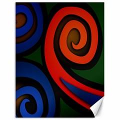 Simple Batik Patterns Canvas 18  x 24