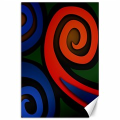Simple Batik Patterns Canvas 24  x 36