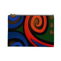 Simple Batik Patterns Cosmetic Bag (Large)