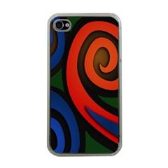 Simple Batik Patterns Apple iPhone 4 Case (Clear)