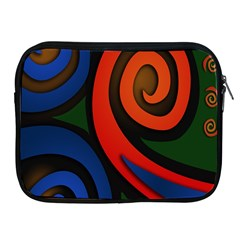 Simple Batik Patterns Apple iPad 2/3/4 Zipper Cases