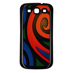 Simple Batik Patterns Samsung Galaxy S3 Back Case (black)