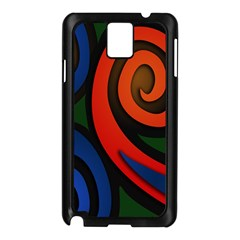 Simple Batik Patterns Samsung Galaxy Note 3 N9005 Case (Black)