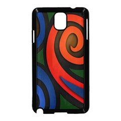 Simple Batik Patterns Samsung Galaxy Note 3 Neo Hardshell Case (black)