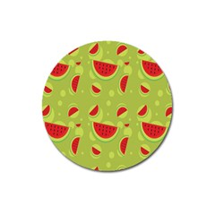 Watermelon Fruit Patterns Magnet 3  (round)