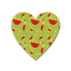 Watermelon Fruit Patterns Heart Magnet