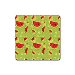Watermelon Fruit Patterns Square Magnet