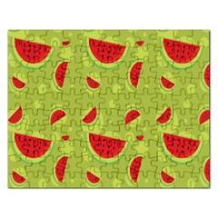 Watermelon Fruit Patterns Rectangular Jigsaw Puzzl