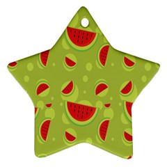 Watermelon Fruit Patterns Star Ornament (two Sides)