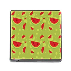 Watermelon Fruit Patterns Memory Card Reader (square)