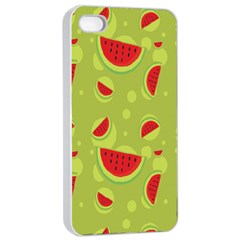 Watermelon Fruit Patterns Apple iPhone 4/4s Seamless Case (White)