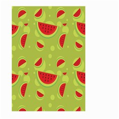 Watermelon Fruit Patterns Large Garden Flag (two Sides)