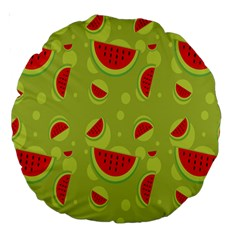 Watermelon Fruit Patterns Large 18  Premium Round Cushions