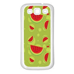 Watermelon Fruit Patterns Samsung Galaxy S3 Back Case (White)