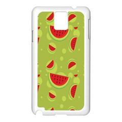 Watermelon Fruit Patterns Samsung Galaxy Note 3 N9005 Case (White)