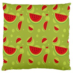 Watermelon Fruit Patterns Large Flano Cushion Case (One Side)