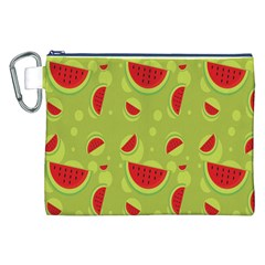 Watermelon Fruit Patterns Canvas Cosmetic Bag (XXL)