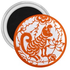 Chinese Zodiac Dog 3  Magnets