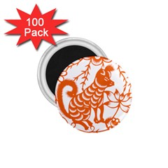 Chinese Zodiac Dog 1 75  Magnets (100 Pack)
