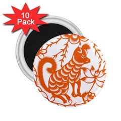 Chinese Zodiac Dog 2 25  Magnets (10 Pack)
