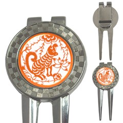 Chinese Zodiac Dog 3-in-1 Golf Divots