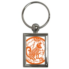 Chinese Zodiac Dog Key Chains (rectangle)